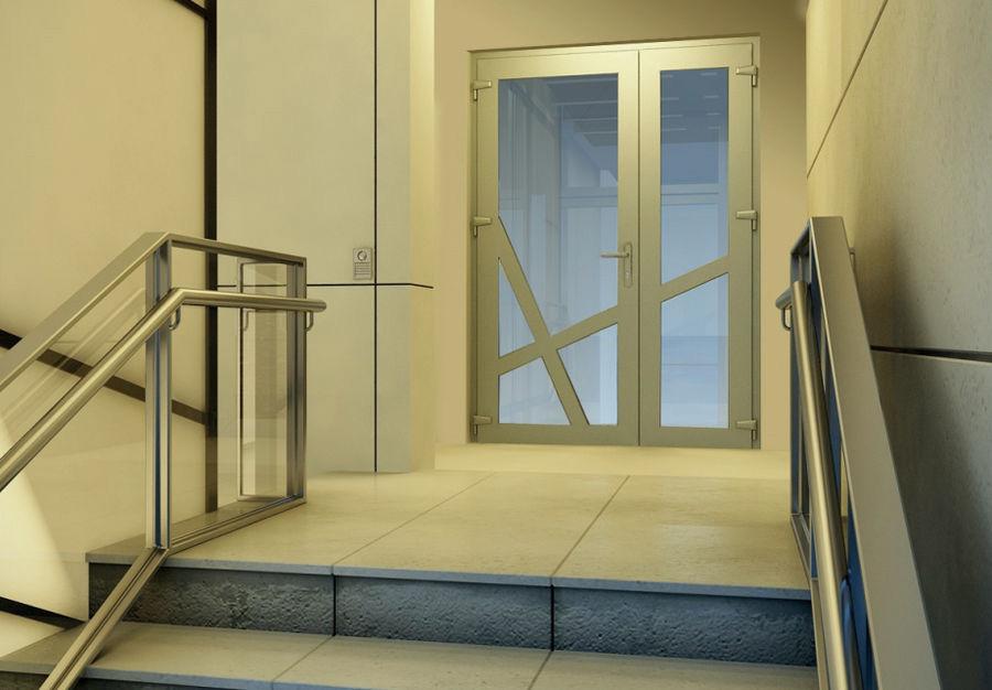 Алюминиевые двери в офисе